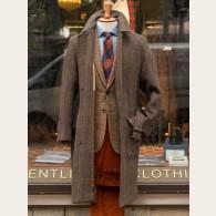 Chrysalis Chocolate HB Tweed Raglan Coat 46