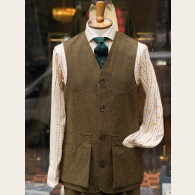 Chrysalis Moorland Rustic HB Tweed Waistcoat L