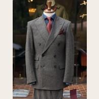 Bladen Glencheck Fox Flannel DB Suit Grey 36