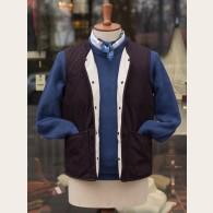 Lavenham Jersey Lined Cotton Twill Vest Navy XX-Large