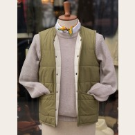 Lavenham Jersey Lined Cotton Vest Olive 2X-Large