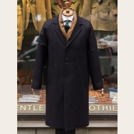 Gloverall Raglan Chesterfield Coat Navy XXL