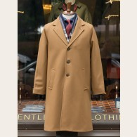 Gloverall Raglan Chesterfield Coat Camel XXL