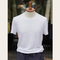 Derek Rose Pure Linen T-shirt White