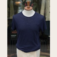 Derek Rose Pure Linen T-shirt Navy