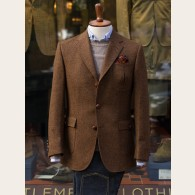 Bladen Gunton Norfolk Shetland Tweed Jacket Tobacco HB